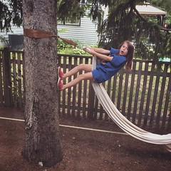 Moments With Mads (matthewkaz) Tags: madeleine daughter child climbing tree treeclimbing climber hammock rope home house summer burcham eastlansing michigan 2018