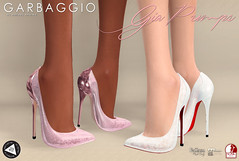 Gia Pumps (Ashleey Andrew) Tags: garbaggio sl secondlife second life virtual world fashion apparel accessories footwear shoes original mesh shoe lace cute flirty aulovely au lovely