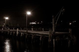 Dark pier