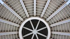 (jfre81) Tags: green bay wisconsin convention center public venue ceiling pattern minimalist symmetry web art canon rebel xs