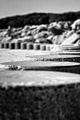 Beach Barrier [EXPLORED] (NIKON 505) Tags: concrete column beach ocean sea nikon