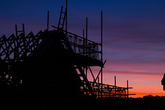 Construction Skyline (G_HOWDEN) Tags: construction site house scaffolding building sillohette sunset