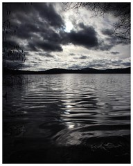 Dark lake (geraldkoenigsohn) Tags: landschaft landscape canon1585mm canon60d monochrome moody dark rheinlandpfalz germany laachersee schwarzweis blackandwhite lake