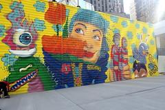 NYC - FiDi: Two World Trade Center Mural Project - BoogieRez (wallyg) Tags: 2worldtradecenter boogierez downtownmanhattan fidi financialdistrict graffiti manhattan mural newyork newyorkcity ny nyc rezones riisaboogie streetart twoworldtradecentermuralproject worldtradecenter