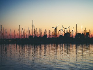 20180701-221702 - Sonnenuntergang Fehmarn - Hafen Burgstaaken