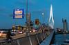 Rotterdam - Erasmus Bridge (Tobias Dander) Tags: tobiasdander rotterdam erasmusbrug erasmus bridge tram ret traffic architecture sign