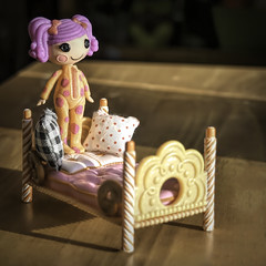 Good Morning Sunshine!!! (☁☂It's Raining, It's Pouring☂☁) Tags: odc pillows squarecrop pj bed sunshine doll toy lalaloopsy buttons light shadows upstairs dresser