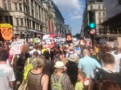 Anti-Trump Protest 13 (thedescrier) Tags: donaldtrump trump antitrump protest protests demonstration demonstrations london uk us politics placard placards sign signs slogan slogans cartoon cartoons poster posters ukpolitics uspolitics racism antiracism immigration equality