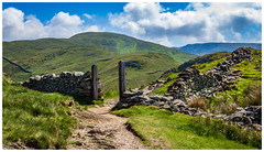 Who stole the gate? (Ian Emerson) Tags: gate lakedistrict landscape canon outdoor wall remains path cumbria beauty natural clouds mountains coast2coast hiking england