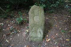 Celtic Stone (elsewhereness) Tags: ireland tinternabbey celtic stone spiral ruins stele triskelion