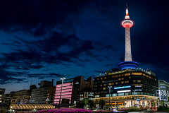Kyoto Tower (Gerald Ow) Tags: kyoto tower 京都タワ 京都 japan 日本 fe 2470mm f28 gm sony ilce7rm2 a7rii a7rmk2 a7r2 geraldow blue hour sunset night photography