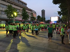 Gathering for the Midnight walk for St Kuke's Hospice (caro-jon-son) Tags: walk