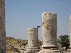 Jordanian Flag Seen from the Citadel (david_e_waldron) Tags: jordan amman