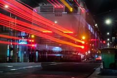 8bx bayshore b express (pbo31) Tags: sanfrancisco california nikon d810 night dark black color july summer 2018 boury pbo31 city urban lightstream motion traffic roadway chinatown stocktonstreet red muni bus motionblur