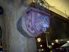 Bobcat Bust (Adventurer Dustin Holmes) Tags: 2005 springfield missouri ozarks springfieldmo greenecounty indoor lightfixtures bobcat art sculpture bust pawprints ceiling basspro bassproshops outdoorworld