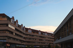 Cacak Downtown Details (dejankrsmanovic) Tags: editorial cacak serbia balkans town city downtown architecture architectural evening day living lifestyle candid square structure infrastructure public street outdoor building sky blue