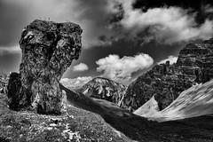 Double Headed Sentinel (galvanol) Tags: axams summer sport landscape olivergalvan alpine nature hiking axamerlizum bw rock mountains blackandwhite austria galvanol
