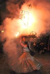 Fire Dancer Oaxaca Mexico (Ilhuicamina) Tags: fireworks explosion dancer china mexico oaxaca woman fiestas parties fuegosartificiales