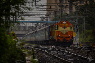 KZJ twins with Palnadu Express on an overcast day