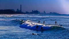 Surfing in Tel-Aviv beach - Follow me on Instagram:  @lior_leibler22 (Lior. L) Tags: surfingintelavivbeach surfing surfers telavivbeach israel waves sea seascapes ocean
