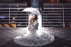_MGL0290 (Cherie Amour Photography) Tags: ç¶ è² bridal bride lady girl woman goddess wedding art fashion portrait sky sea love romance night gown