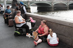 South Bank (Gary Kinsman) Tags: fujix100t fujifilmx100t 2018 people person candid streetphotography streetlife southbank flash se1 fastfood mcdonalds river thames seen visible mobilityscooter floor sitting westminsterbridge