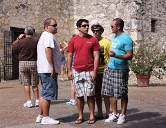 guys at the Alamo (miosoleegrant2) Tags: texas tx mission san antonio history outside building architecture alamo sanantonio man male butch guy gentleman men guys dude studly manly dudes handsome stud candid hunk sexy masculine people