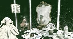 Tea & Tiaras (bellesonsie) Tags: refuge tea tiara mirror blog tale table gown bling sparkle elegant reflection dinner coffee cake romantic