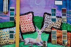 Art with a goat (paul.buetow) Tags: scene brick lane london art colors