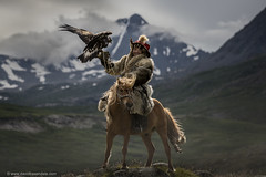 Eagle Hunter (www.davidbaxendale.com) Tags: a kazakh nomadic eagle hunter shot ultra remote altai mountains mongolia this image formed part trilogy i was commissioned shoot for lonely planet wwwlonelyplanetcom