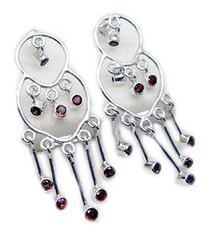 Garnet #Earring #Red (riyogems) Tags: garnet earring red riyo gems