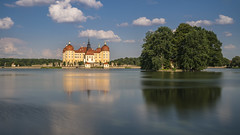 Moritzburg castle (stefanfricke) Tags: ndfilter castle moritzburg water reflection clouds ilce7rm2 sel1635z sony saxony sachsen