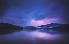 Lightning (P.Stoychev) Tags: forest lake storm beglika golyambeglik bulgaria travel sky stormy cloudy thunder thunderstorm rhodopemountain rhodopes woods landscape nikond610 ngc therebeastormabrewin