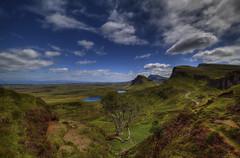 """ WHERE DINOSAURS ROAM ~ QUIRAING ~ ISLE OF SKYE "" (Wiffsmiff23) Tags: quiraing isleofskye dinosaur lonetree scotland epic hike dramatic drama"