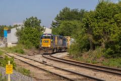 CSX Y220-18 at Steel Mill Lead (travisnewman100) Tags: csx train railroad freight local manifest emd gp382 steel mill lead industrial spur y220 etowah subdivision atlanta division cartersville wyvern