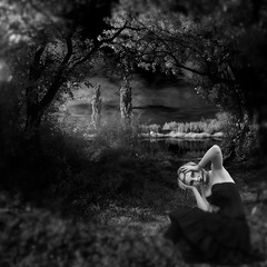 landscape with mask (old&timer) Tags: background infrared filtereffect composite conceptual song4u oldtimer imagery digitalart laszlolocsei