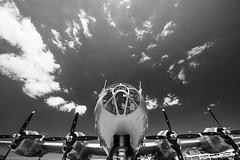 Boeing B-29 (ISP Bruno Laplante) Tags: boeing b29 super fortress sky clouds warbird war plane bobmer propeller wwii old vintage bw black white