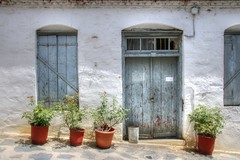Building, Skopelos Town (robin denton) Tags: skopelos greece greekisland aegeanislands aegean northernsporades sporades mediterranean travelphotography building door window hdr
