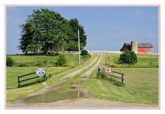 Hilltop Stables in Shedden, Ontario (sjb4photos) Tags: canada ontario iamcanadian driveway barn farm fence fencefriday hff sheddenontario hilltopstables fabuleuse