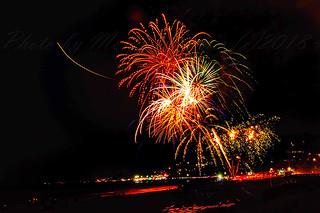 fireworks at Bel-Air bayclub in pacific palisades