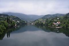 Enchanting Bosnian Countryside (Jocelyn777) Tags: landscape water river mountains mist fog green greenery foliage trees bridges reflections waterreflections konjic bosniaandherzegovina balkans travel