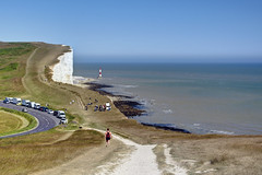 Beachy Head, Sussex (marktandy) Tags: sussex beachyhead cliff channel sea coast lighthouse chalk june 2018 summer bluesky nationaltrust birling eastbourne beach heatwave d7100 nikon