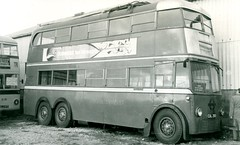 1960s - London Trolleybus 260 at Reading. (RTW501) Tags: cul260 aec mccwbody c2 bournemouthtrolleybus reading
