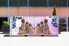 Puebla, Mexico. (Angel_Villa) Tags: architecture art box cargo container colors symmetry street streetart graffiti