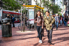 San Francisco 2018 (burnt dirt) Tags: sanfrancisco california vacation town city street road sidewalk crossing streetcar cablecar tree building store restaurant people person girl woman man couple group lovers friends family holdinghands candid documentary streetphotography turnaround portrait fujifilm xt1 color laugh smile young old asian latina white european europe korean chinese thai dress skirt denim shorts boots heels leather tights leggings yogapants shorthair longhair cellphone glasses sunglasses blonde brunette redhead tattoo pretty beautiful selfie fashion japanese green brown brick