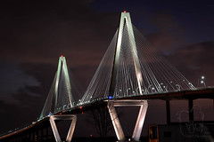 Arthur Ravenel Jr. Bridge (Lakeside Annie) Tags: 07032018 2018 20180703 charleston charlestonsc charlestonsouthcarolina july3 leannefzaras mountpleasant mountpleasantsc ravenel ravenelbridge sarazphotography southcarolina tuesday longexposure night nightshot