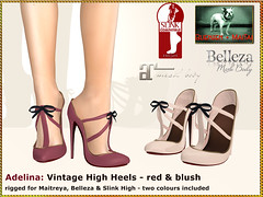 Bliensen - Adelina - red + blush (Plurabelle Laszlo of Bliensen + MaiTai) Tags: shoes vintage retro highheels pumps stilettos