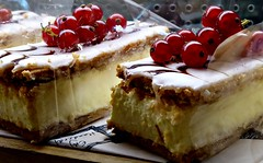 Tea for Two. (jenichesney57) Tags: shop restaurant cakes icing custard food worcester tea afternoon red currants panasonic lumix