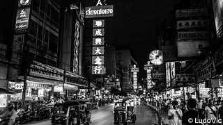 Bangkok en noir et blanc