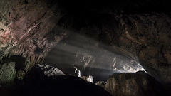 Adventure is calling! (tomas.jezek) Tags: cave rocks rock underground sun sunrays sunlight deep mist